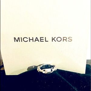 MICHAEL KORS BUCKLE STERLING SILVER (Size 7) RING